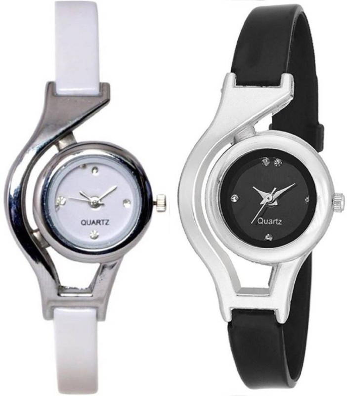 Gopal Retail Black And White Analog Watch for Women and Gilrs Analog Watch Watch - For Girls