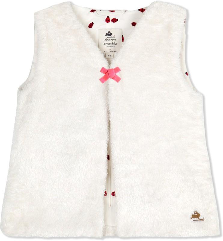 Cherry Crumble California Sleeveless Solid Girls Jacket