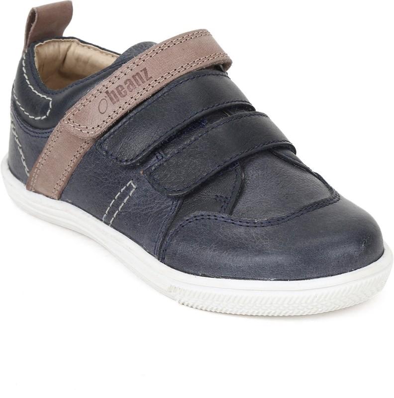 Beanz Boys Velcro Casual Boots(Black)