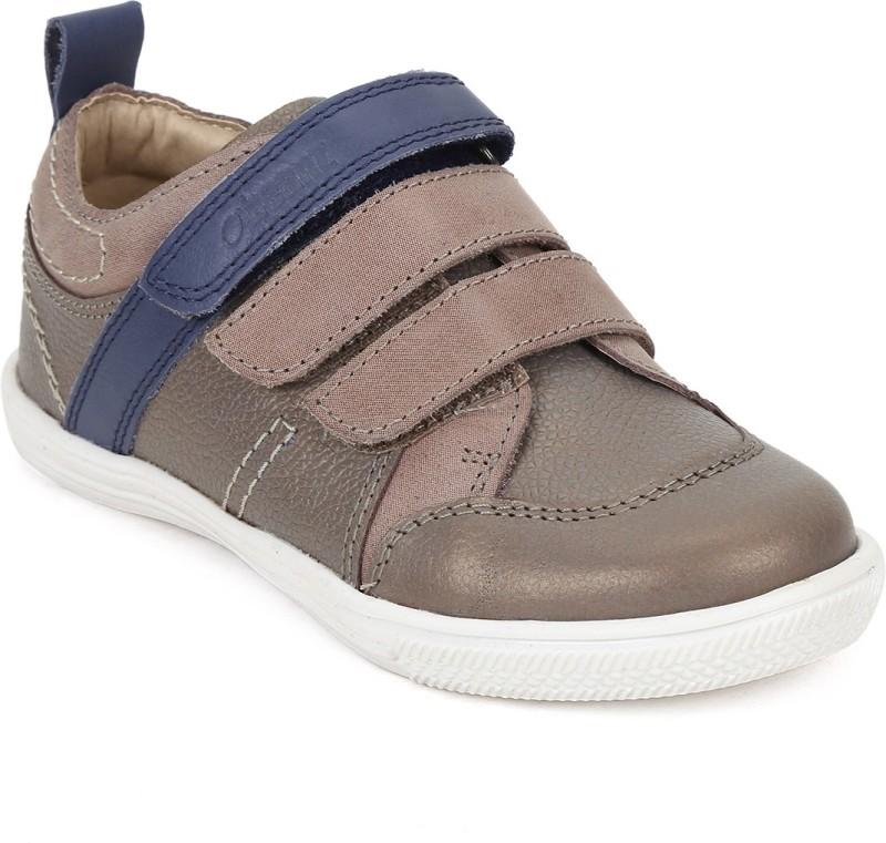 Beanz Boys Velcro Casual Boots(Beige)