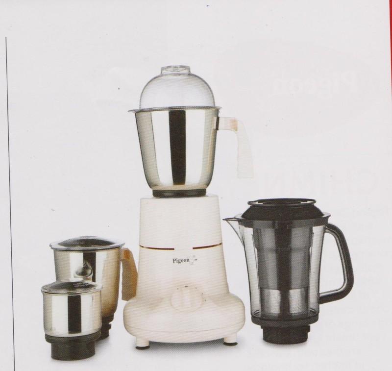 Pigeon Splendour JX 750 750 Mixer Grinder(mixer and 3 jars and 1 juicer jar, 4 Jars)