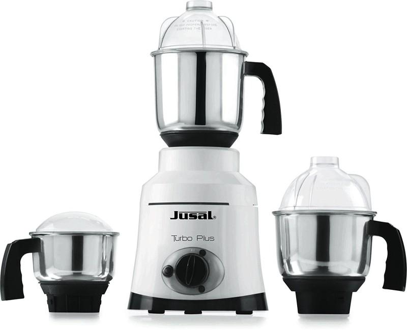 Jusal Turbo Plus 1000 1000 Juicer Mixer Grinder(White, 3 Jars)