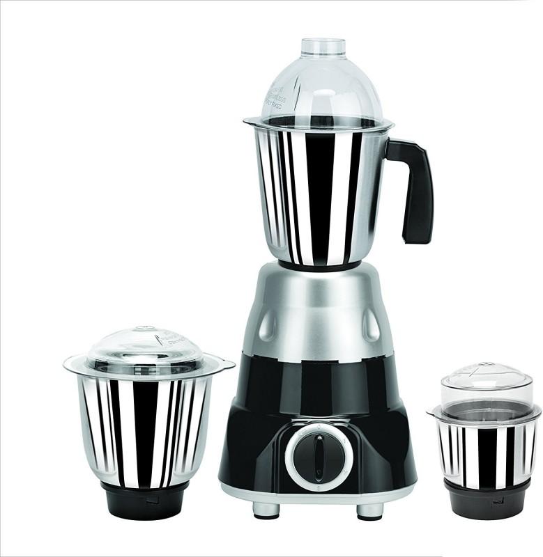 Jusal Black Beauty 600 600 Juicer Mixer Grinder(Black, 3 Jars)