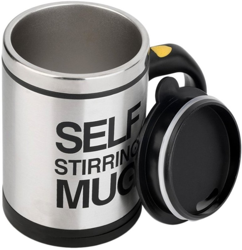 VibeX Cool mugs Self,The heat preservation Stirring Coffee or Tea Cup Stainless Steel Mug(390 ml, Pack of 14)