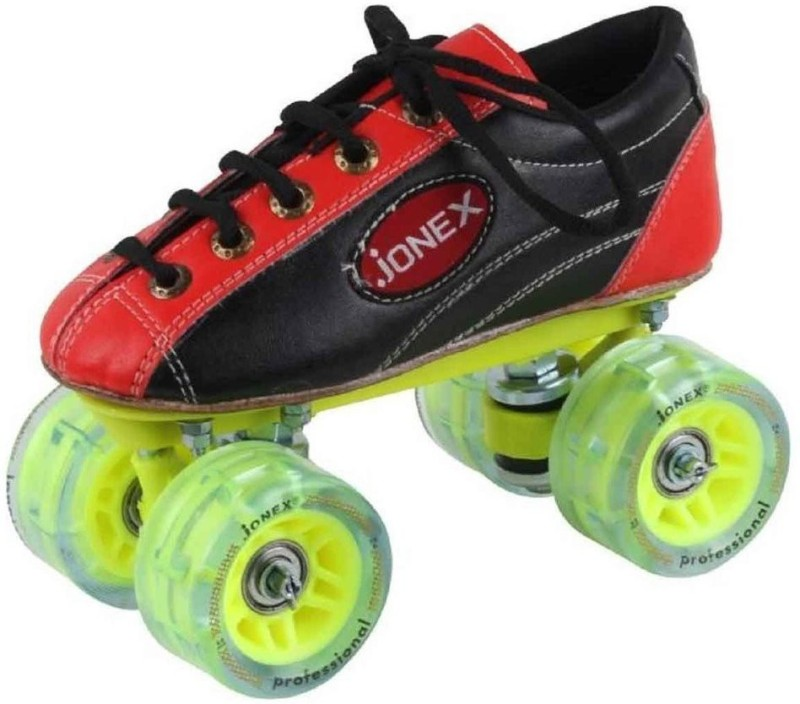 Jonex fix body professional shoe skates senior Size: 2 Indian Quad Roller Skates - Size 2 UK(Black)