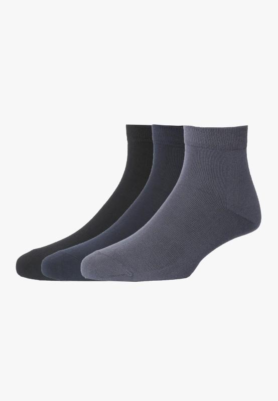 Peter England Mens Quarter Length Socks(Pack of 3)