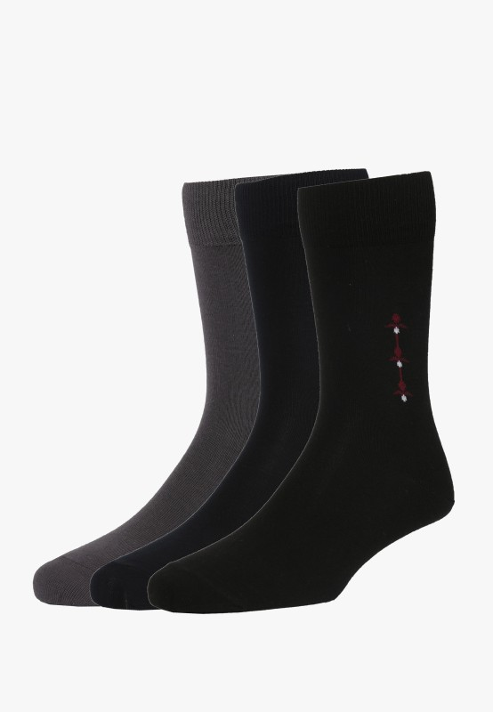 Peter England Mens Mid-calf Length Socks(Pack of 3)