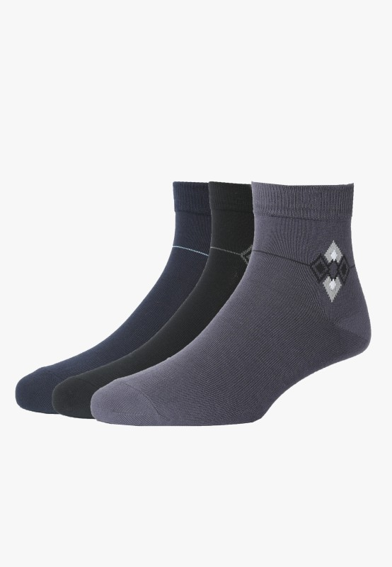Peter England Mens Ankle Length Socks(Pack of 3)