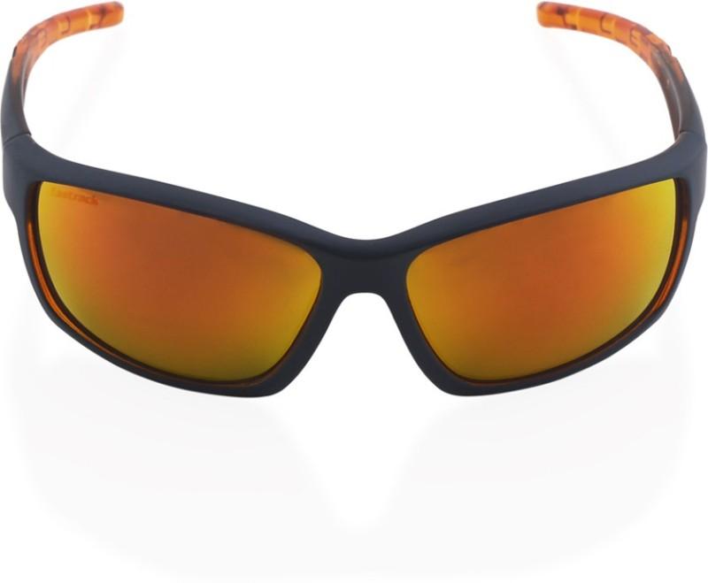 Fastrack Sports, Wrap-around Sunglasses(Orange)