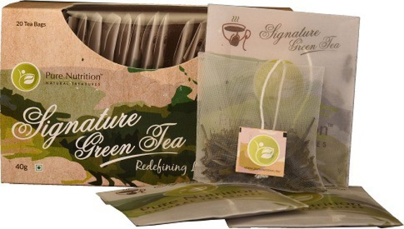 Pure Nutrition Signature Green Tea - 20 Tea Bags Unflavoured Green Tea Bags(20 Bags, Box)