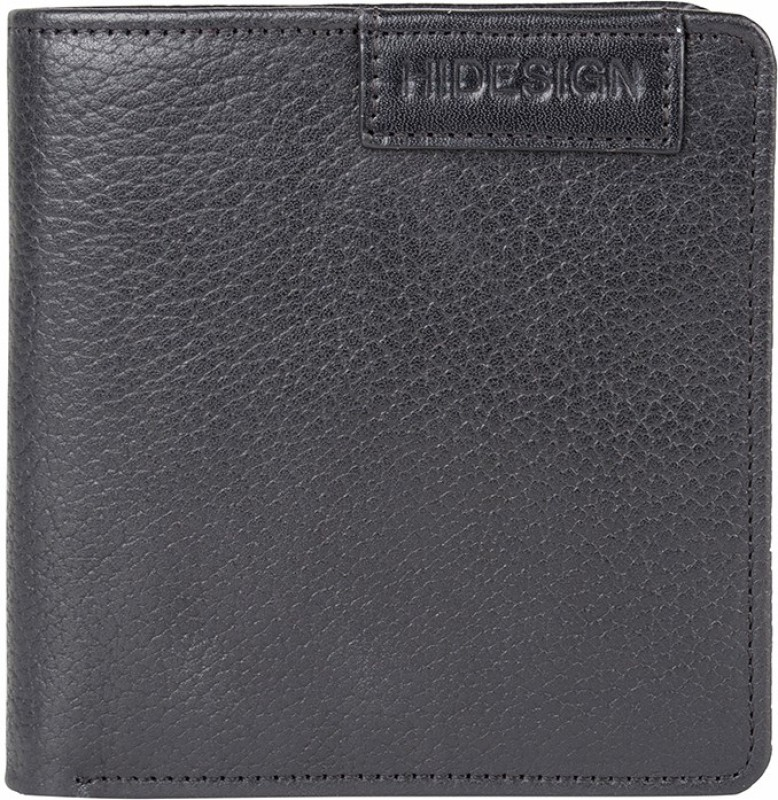 Hidesign Men Black Genuine Leather Wallet(4 Card Slots)