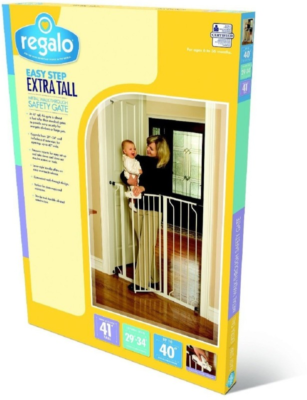 regalo Extra Tall Baby Safety Safety Gate(White)