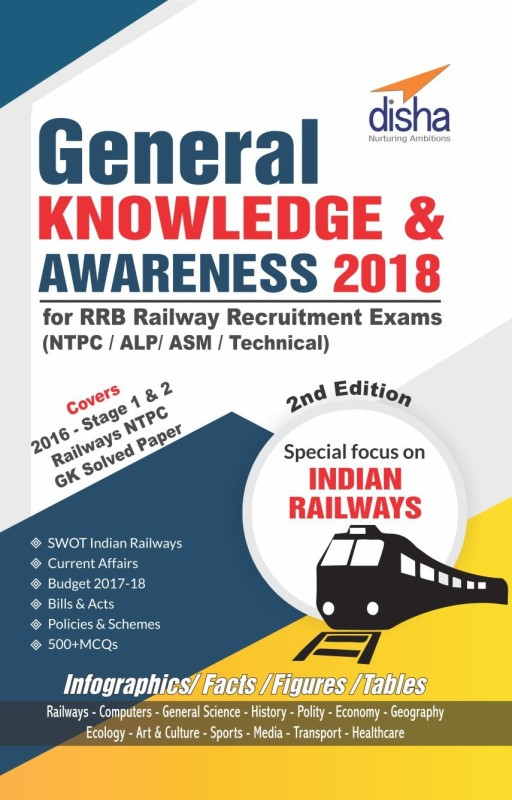 General Knowledge & Awareness 2018 for RRB Railway Recruitment Exams (NTPC/ALP/ASM/Technical)(English, Paperback, unknown)