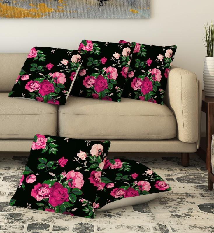 LA VERVE 3D Printed Cushions Cover(Pack of 5, 40 cm*40 cm, Multicolor)