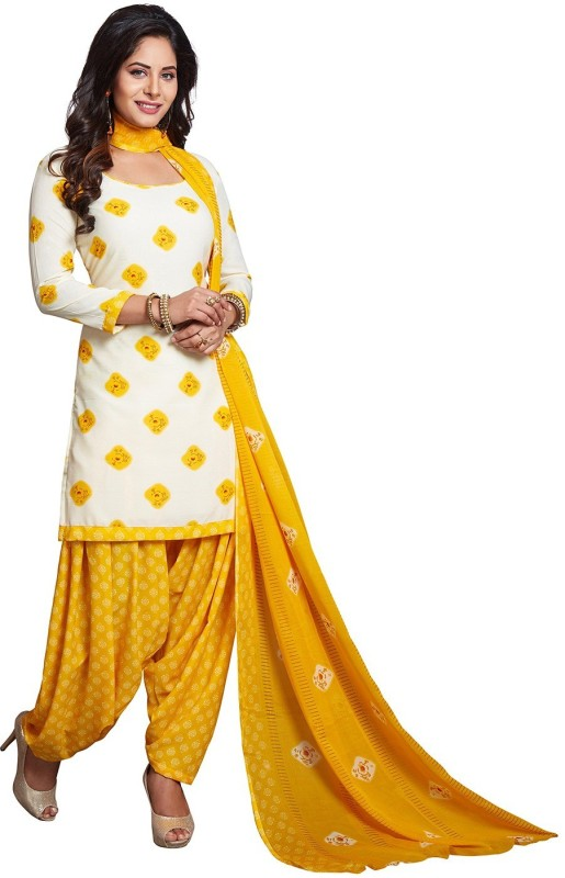 Jevi Prints Synthetic Geometric Print, Printed Salwar Suit Dupatta Material(Un-stitched)