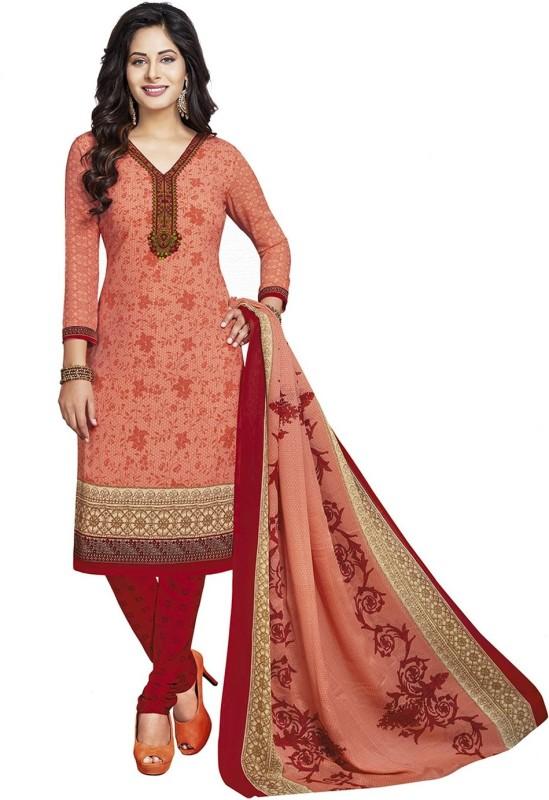 Jevi Prints Synthetic Self Design, Printed Salwar Suit Dupatta Material(Un-stitched)