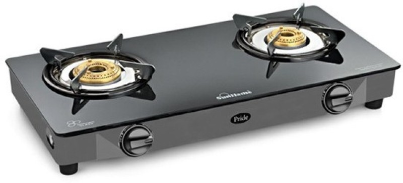 Sunflame Glass Manual Gas Stove(2 Burners)