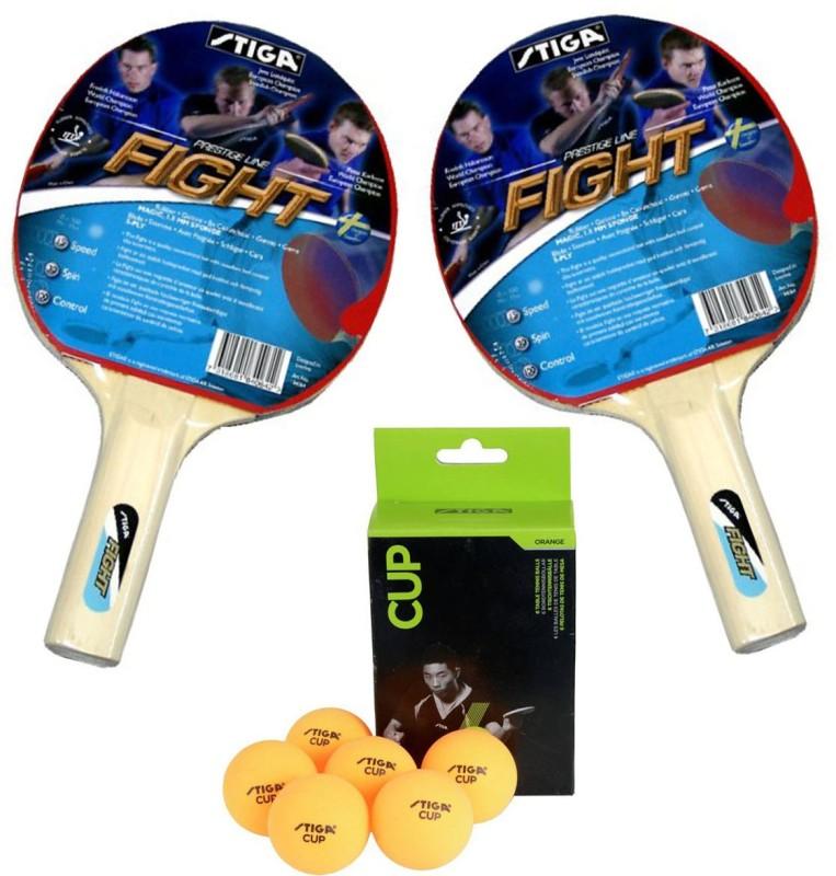 Stiga Fight TT Racquet With TT Cup Ball Table Tennis Kit