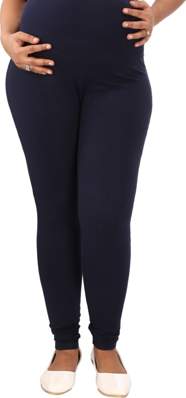 Mammas Maternity Churidar Legging(Blue, Solid)