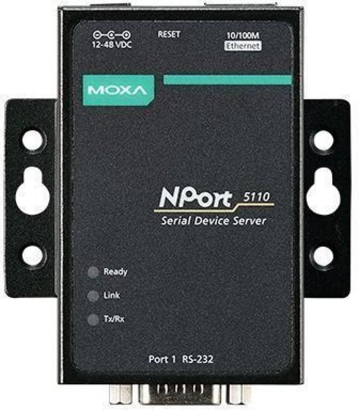 moxa NPort-5110 1-port RS-232/422/485 serial device servers Moxa NPort-5110 Rack Server