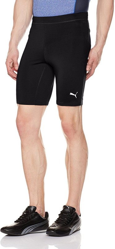 Puma Solid Mens Black Cycling Shorts