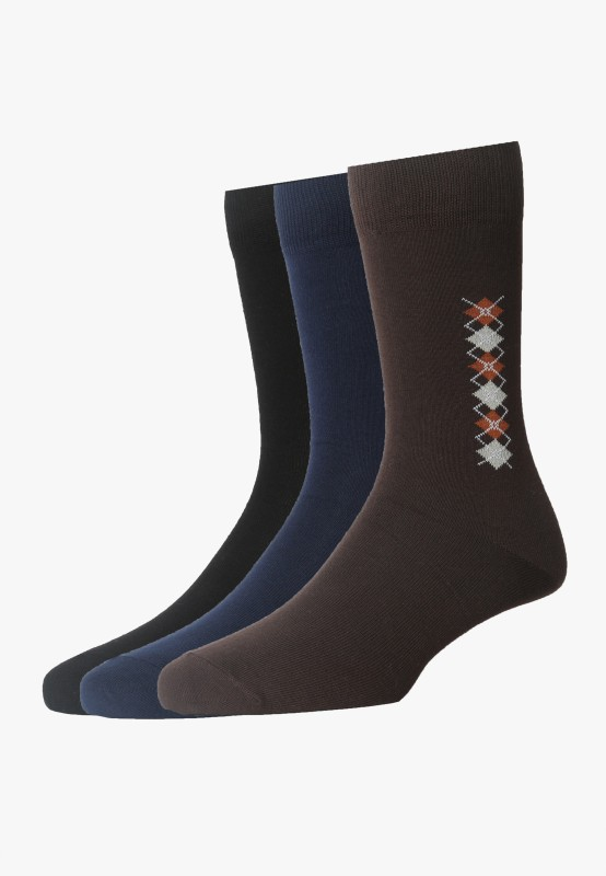 Van Heusen Mens Mid-calf Length Socks(Pack of 3)