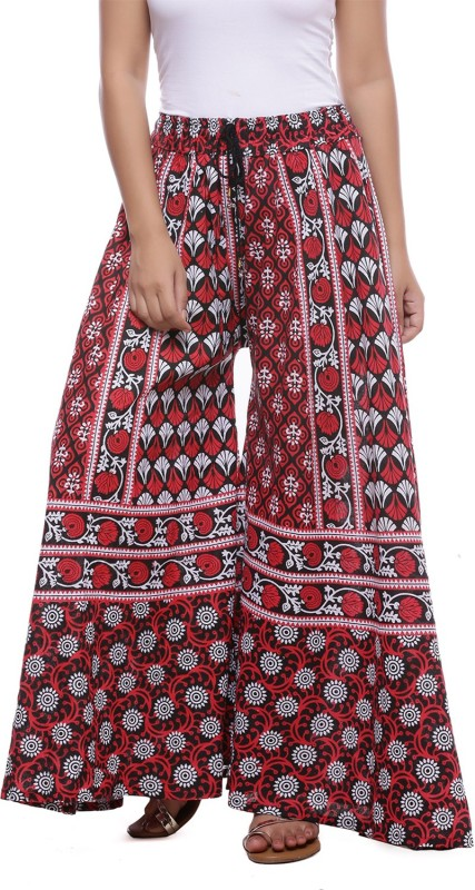 Soundarya Flared Womens Maroon Trousers