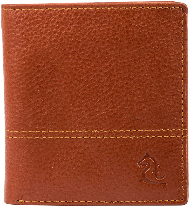 Kara Men Tan Genuine Leather Wallet(8 Card Slots)