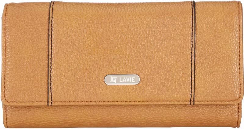 Lavie Women Tan Artificial Leather Wallet(10 Card Slots)