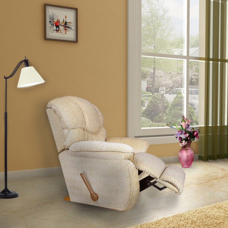 La-Z-Boy Dreamtime Fabric Manual Rocker Recliners(Finish Color - Beige)