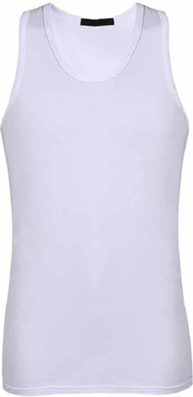 Wonder World ™ Gym Sweat Enhancing Waist Training Sauna suit™ Sport Men Compression(White Sleeveless)