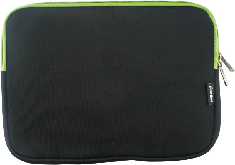 Emartbuy Sleeve for Micromax Canvas Lapbook L1160(Black / Green, Laptop Case, Cloth)