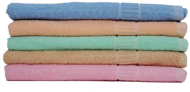 LABNO Cotton 300 GSM Bath Towel Set(Pack of 5, Multicolor)