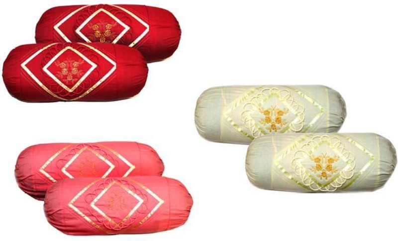 RJ Products Embroidered Cushions Cover(Pack of 2, 38 cm*75 cm, Multicolor)