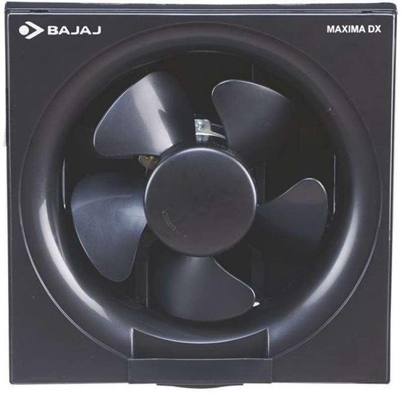 Bajaj Maxima DxI 200 mm 5 Blade Exhaust Fan(Black)