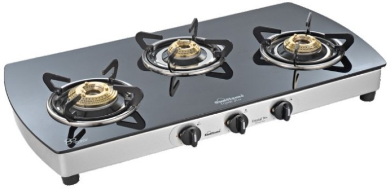 Sunflame Crystal Plus 3B SS auto Glass Automatic Gas Stove(3 Burners)