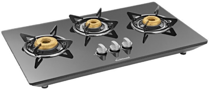 Sunflame CT Hob 3B mannual Glass Manual Gas Stove(3 Burners)
