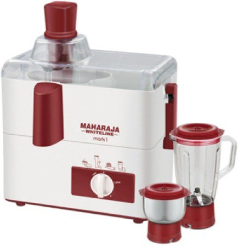 Maharaja Whiteline MARK-1 (JX-100) 450 Juicer Mixer Grinder(White, 2 Jars)