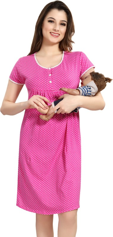 AV2 Women Maternity/Nursing Nighty(Pink)