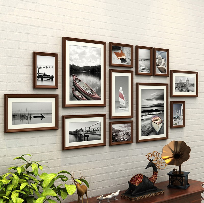 WollWoll Wood Photo Frame(Brown, 12 Photos)