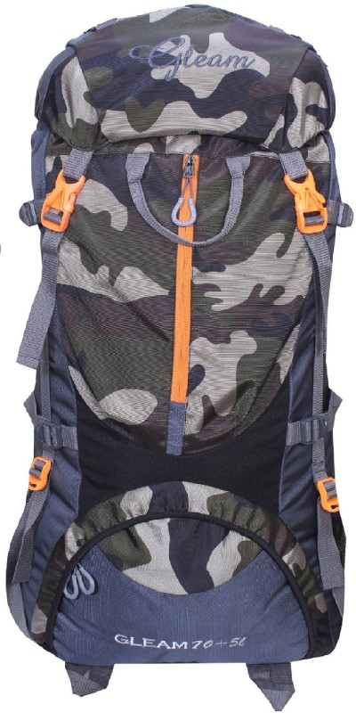 Gleam 0109 Climate Proof Mountain / Hiking / Trekking / Campaign Bag / Backpack 75 ltrs Rucksack - 75 L(Multicolor)