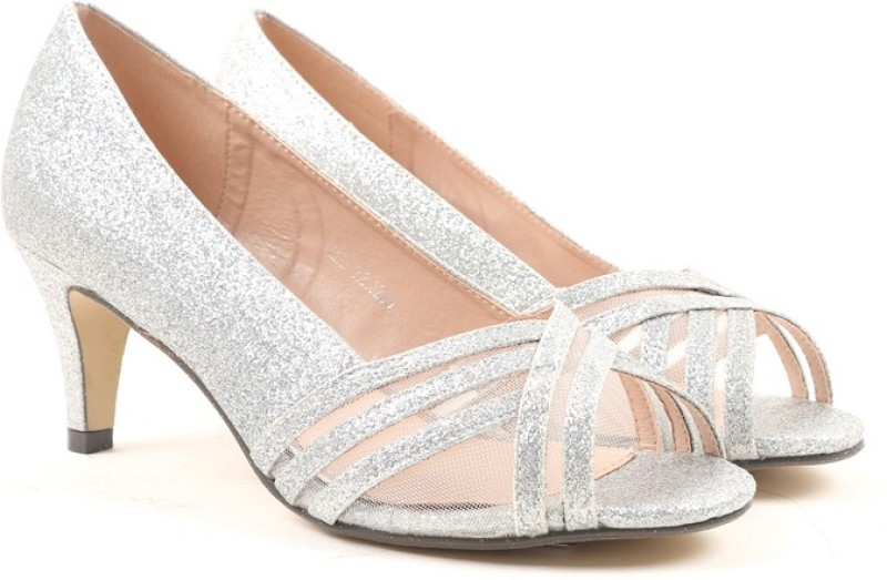 2. Carlton London Women SILVER Heels