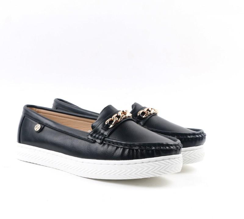 Carlton London CLL-3612 Loafer For Women(Black)
