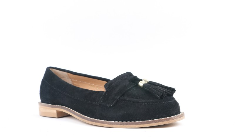 Carlton London CLL-3510 Loafers For Women(Black)