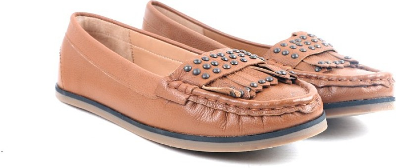 Carlton London CLL-3515 Loafer For Women(Tan)