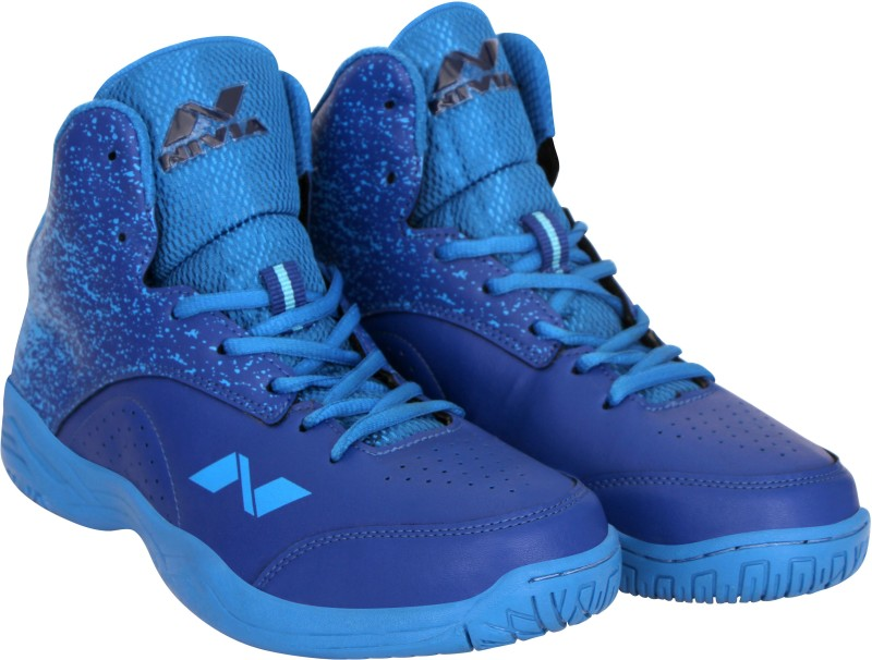Nivia Panther-1 Basketball Shoes For Men(Blue)