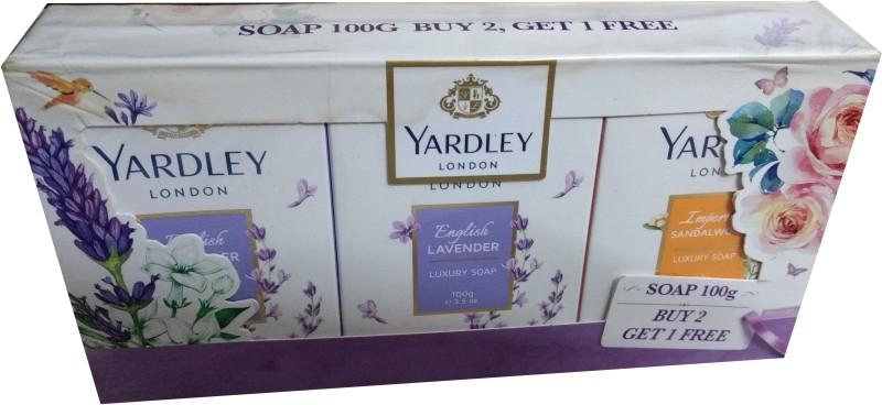 Yardley London Lavender and SandalWood Bath Soap(300 g, Pack of 3)