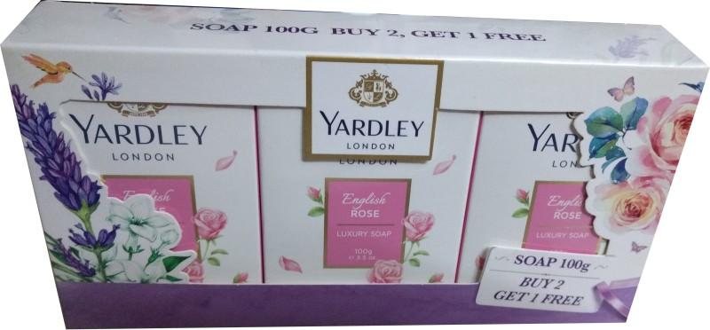 Yardley London English Rose(300 g, Pack of 3)