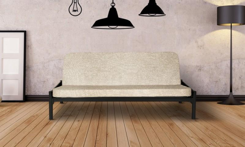 FurnitureKraft Cairo Double Metal Futon(Finish Color - Black Mechanism Type...