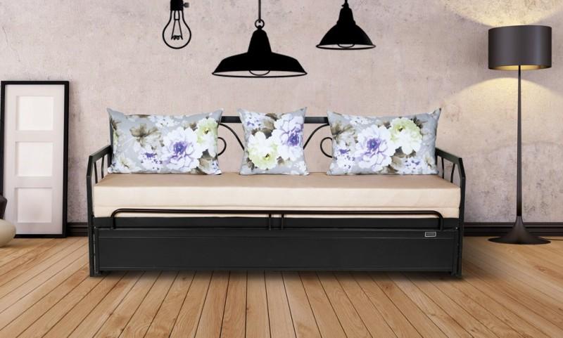 FurnitureKraft Caen Double Metal Sofa Bed(Finish Color - Black Mechanism...
